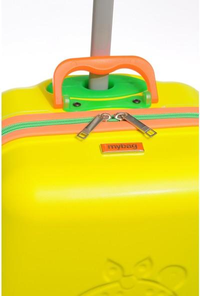 Mybag Mybag84966 Sarı Kız Çocuk Kabin Boy Valiz