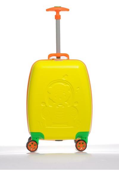 Mybag Mybag84980 Sarı Erkek Çocuk Kabin Boy Valiz