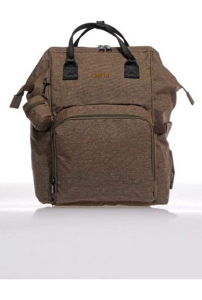 Smart Bags Smb2007-0006 Kahverengi Kadın Bebek Bakım Sırt Çantası
