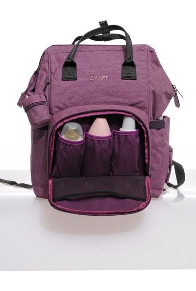Smart Bags Smb2007-0027 Mor Kadın Bebek Bakım Sırt Çantası