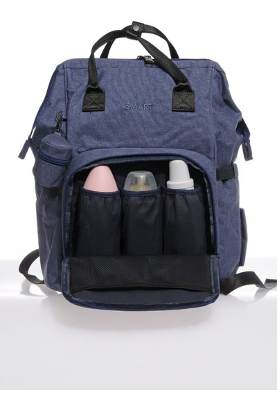 Smart Bags Smb2007-0050 Buz Mavisi Kadın Bebek Bakım Sırt Çantası