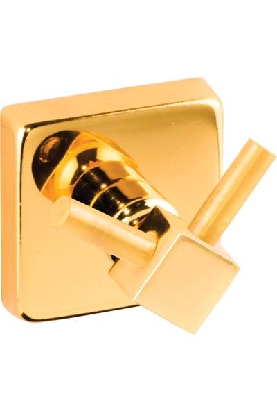 Versu Armature Gold Serisi Çift Bornoz Havlu Askılığı
