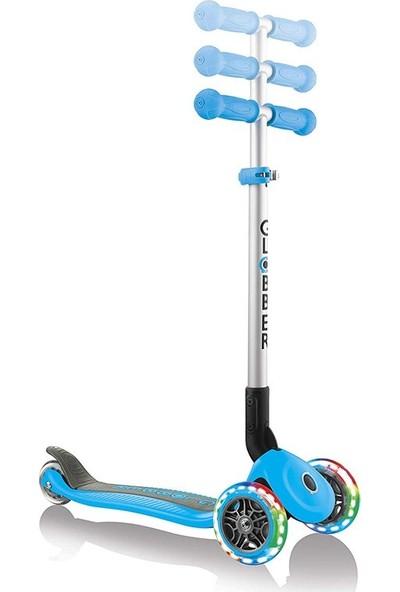 Globber Primo Katlanabilir Işıklı 3 Tekerlekli Scooter - Mavi