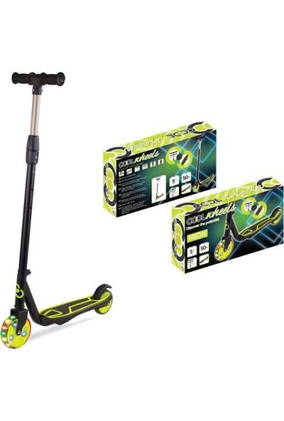 Cool Wheels 2 Tekerli Işıklı Ayarlanabilir Scooter - Yeşil