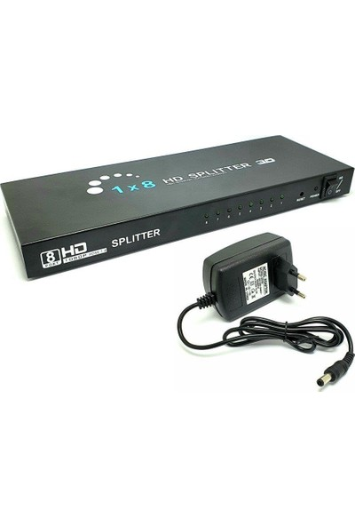 Polotech 8port Full Hd 4K 1x8 HDMI Splitter