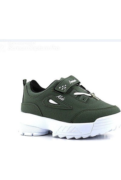 Armix 3033 Haki-Beyaz Çocuk Spor Ayakkabı