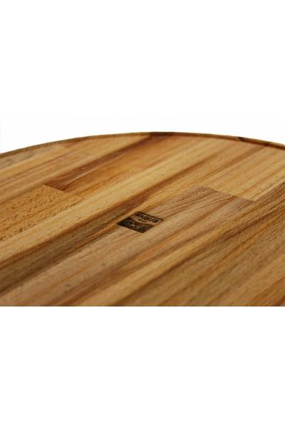 Fagus Wood Yuvarlak Saplı Sunum Tahtası