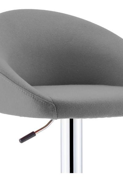 Sandalye Online Kiremit Bar Sandalyesi Gri