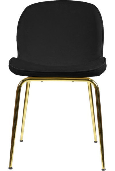 Sandalye Online Cara Sandalye Gold Kaplama Ayak Siyah