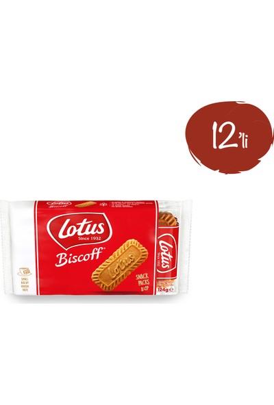 Lotus Biscoff Karamelize Bisküvi 124 gr - 12 Paket