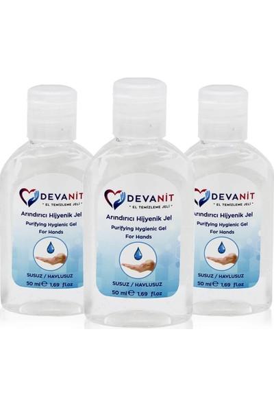 Devanit 3 Adet Antibakteriyel El Temizleme Jeli 50 ml