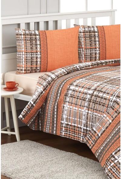 Özdilek Tweed Çift Kişilik Pike Takımı Oranj