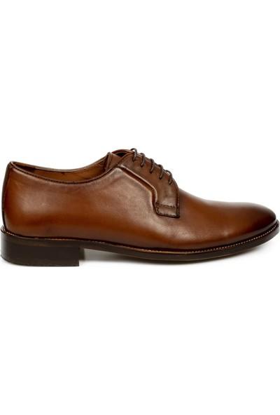 Marcomen 11243 Hakiki Deri Klasik Bağlı Taba Erkek Ayakkabı