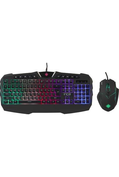 Inca Ruthless IKG-310 Rainbow Effect Oyuncu Gaming Klavye + Mouse Seti