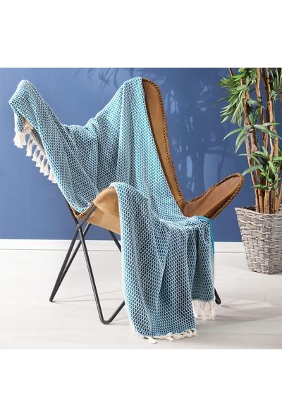 Yataş Bedding Hera Koltuk Şalı - Mavi