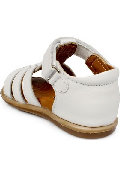 Vicco 918.e20Y.028 İlk Adım Deri Beyaz Çocuk Sandalet