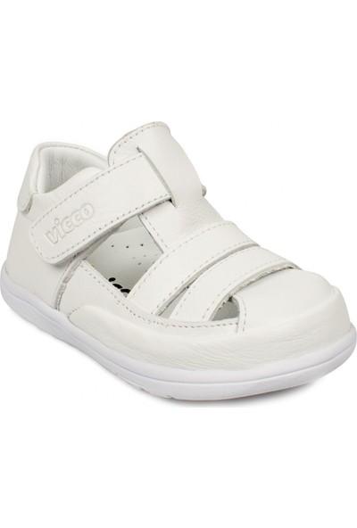 Vicco 918.e20Y.046 İlk Adım Deri Beyaz Çocuk Sandalet