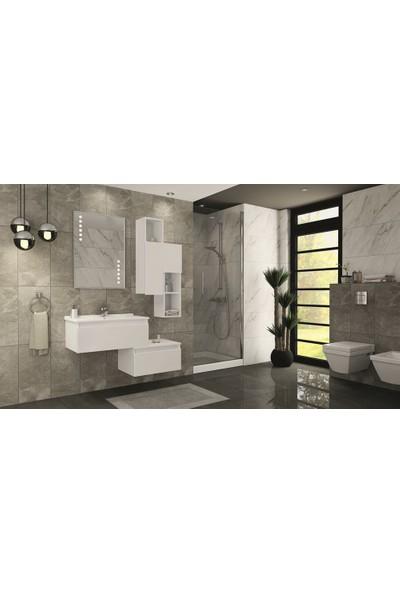 Netdeko Pamira 120 cm Banyo Dolabı Beyaz