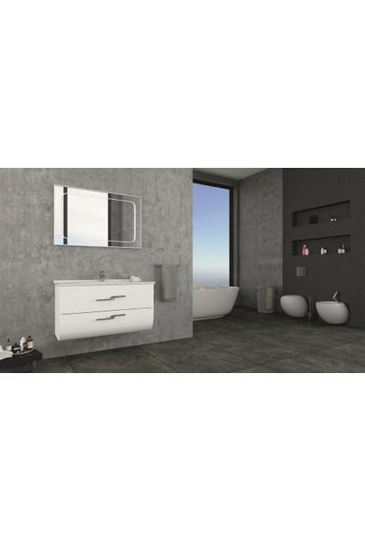 Netdeko Zeta 100 cm Banyo Dolabı Beyaz