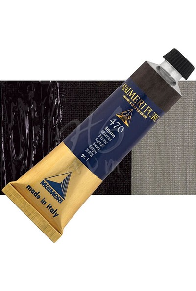 Maimeri Puro Yağlı Boya 40 ml Seri 1 470 Bitumen