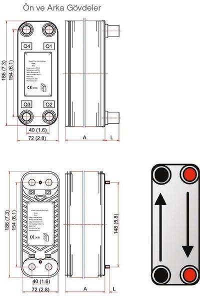 Mıt Mb-01 Lehimli Tip Plakalı Isı Eşanjör (14 Plakalı)