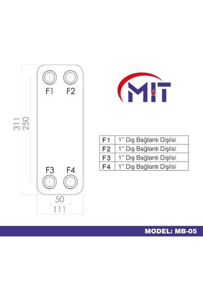 Mıt Mb-05 Lehimli Tip Plakalı Isı Eşanjör (36 Plakalı)