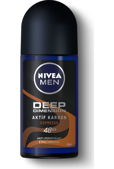 Nivea Men Deep Dimension Espresso Roll On Deodorant 50 ml Erkek