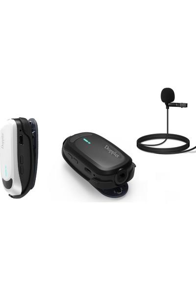 Doppler Kablosuz Kamera Mikrofonu CAM100B Yaka Ünitesi Kamera Receiver Alıcı Ünitesi