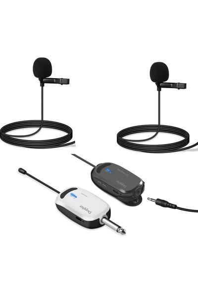 Doppler Kablosuz Kamera Mikrofonu CAM200B Çift Yaka Ünitesi Kamera Receiver / Alıcı Ünitesi