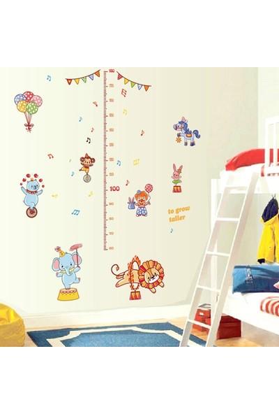 Crystal Kids Sevimli Sirk Hayvanları Boy Ölçen Bebek ve Çocuk Odası Dekoru