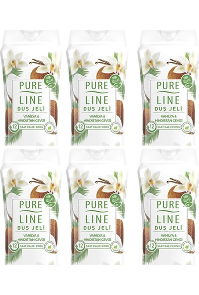 Pure Line Vanilya & Hindistan Cevizi Duş Jeli 400 ml 6 Adet