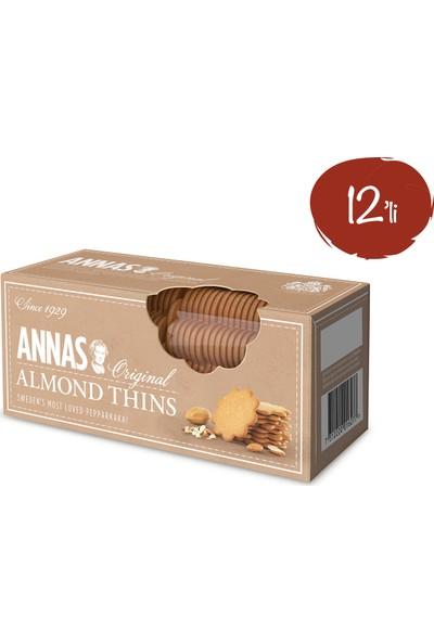 Annas Badem Aromalı Bisküvi 150 gr x 12 Paket