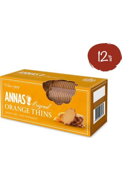 Annas Portakallı Bisküvi 150 gr x 12 Paket