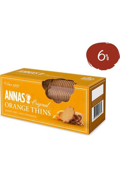 Annas Portakallı Bisküvi 150 gr x 6 Paket