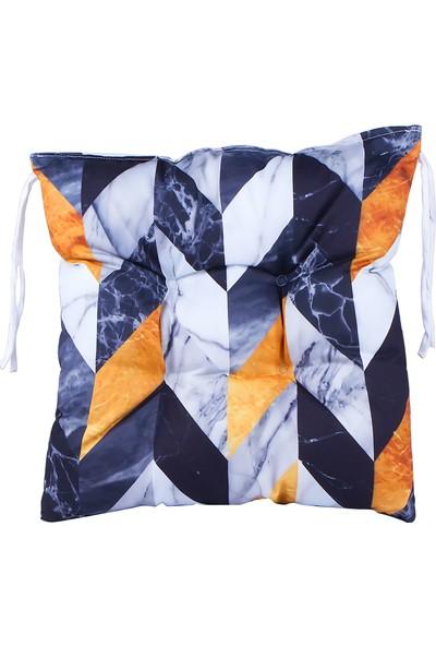 Dncstore Dijital Baskılı Mozaik Desenli Kare Sandalye Minderi 40 x 40 cm