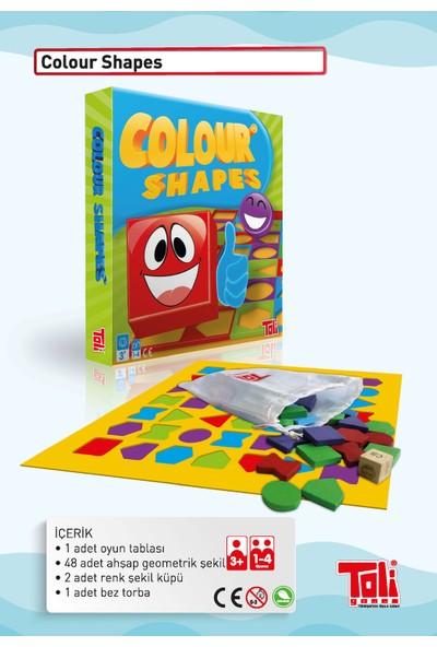 Toli Games Colour Shapes Renkli Ahşap Taşlı Zeka Oyunu
