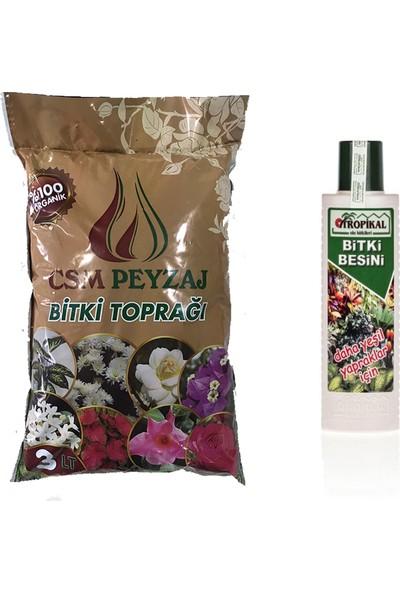 Gül Çiçek Sarayı Yeşil Bitkilere Özel Vitamin ve Toprak Organik Toprak 3 lt Besin 225 ml