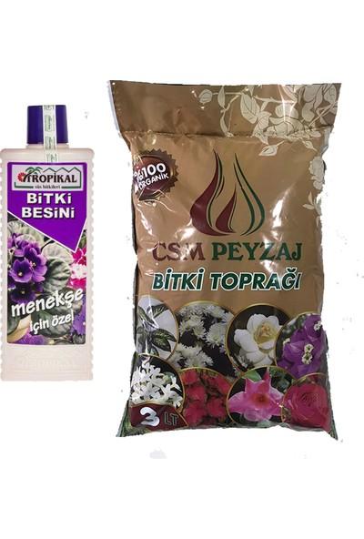 Gül Çiçek Sarayı Menekşelere Özel Vitamin ve Toprak Çiçek Toprağı ve Menekşe Besini