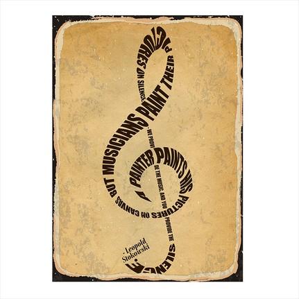 Tablomega Muzik Notasi Modern Ahsap Tablo Fiyati