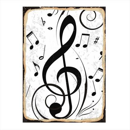 Tablomega Muzik Notalari Modern Ahsap Tablo Fiyati
