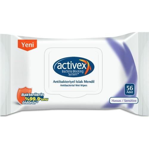 Activex Antibakteriyel Islak Mendil Hassas 56 Yaprak