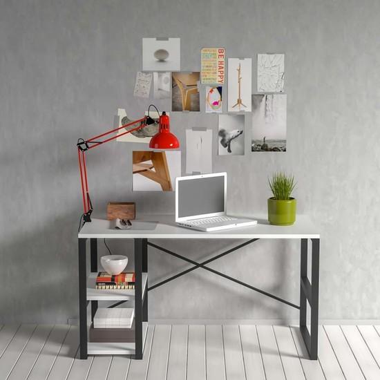 Evdemo Sude Metal Çalışma Masası Beyaz