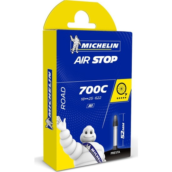 Michelin Airstop İç Lastik 700x18-25 52mm İnce Sibop A1