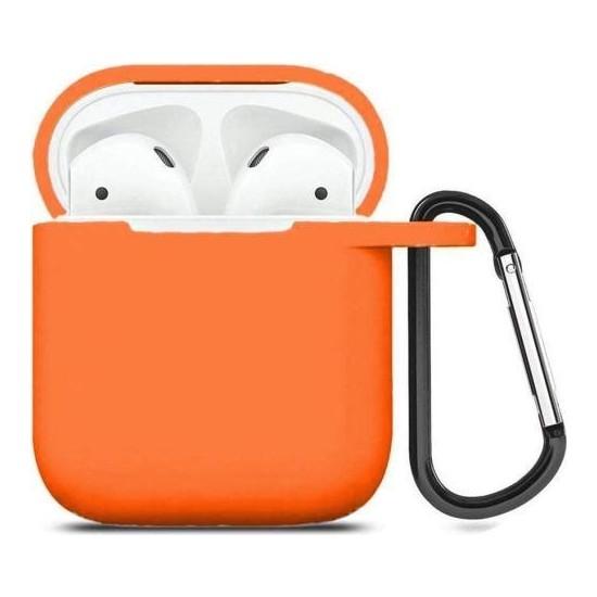 Maxcom Apple Airpods Kılıf Silikon Koruyucu Kılıf Turuncu