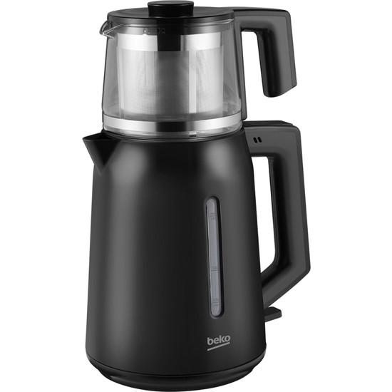 Beko Bkk 2221 C Siyah Cam Demlikli Çay Makinesi