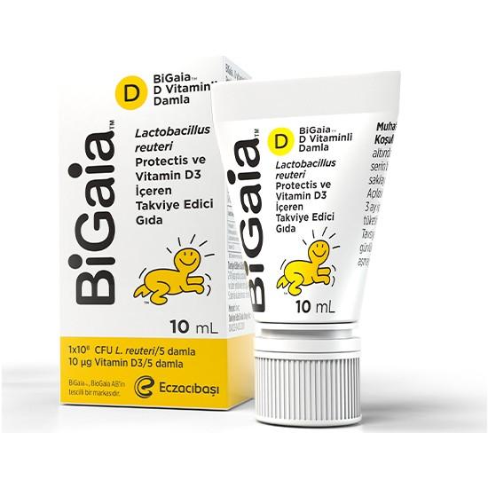 Bigaia Probiyotik ve D Vitaminli Damla 10 ml – Bağışıklık Sistemi Destekleyici