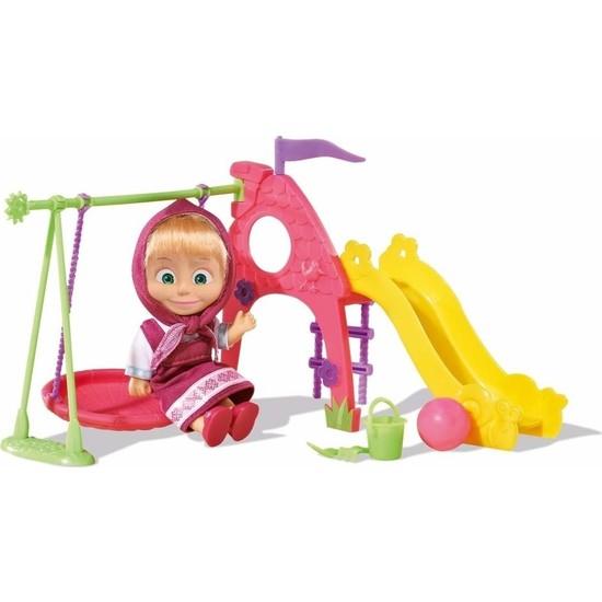 Maşa ile Koca Ayı Masha 12 cm Bebek ve Oyun Parkı Seti