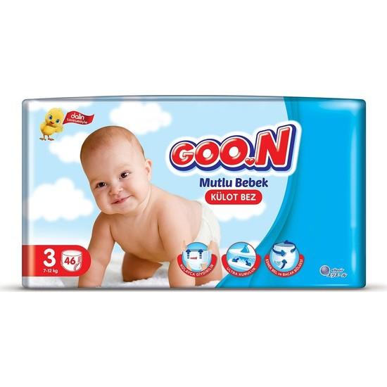 Goon Mutlu Bebek Külot Bez 3 Beden Jumbo Paket 46 Adet