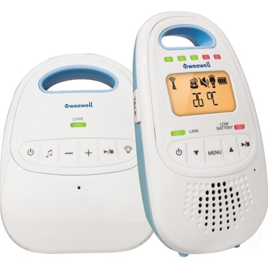 Weewell WMA420 Dijital Bebek Telsizi - 300 m - Şarjlı - Interkom - LCD Ekran - Gece Işığı - Ninni