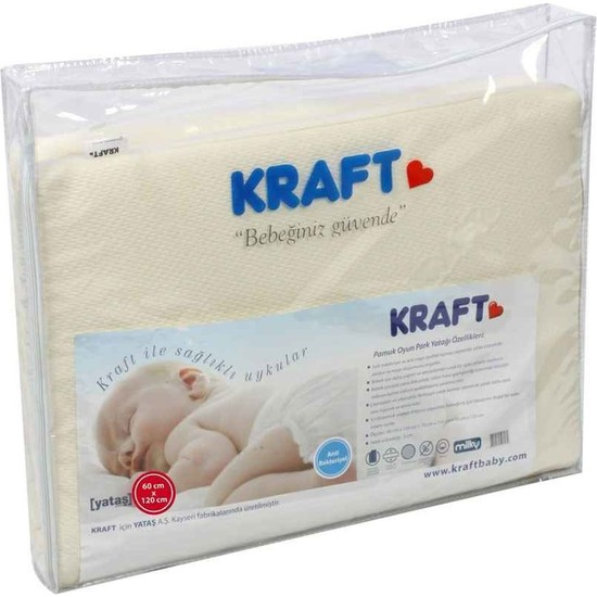 Kraft Yataş Pamuk Oyun Parkı Yatağı 70x120cm